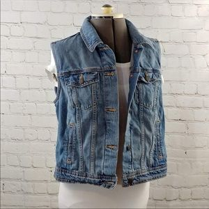 Old Navy Jean Vest medium wash EUC jacket L